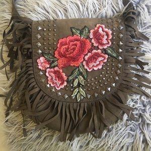 Boho Fringe Rose Bag